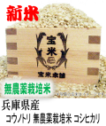 令和3年産 兵庫県産 コウノトリ 栽培期間中無農薬栽培米 コシヒカリ(玄米1kg)