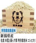 令和元年産 新潟県産 佐渡 朱鷺と暮らす郷 特別栽培米 コシヒカリ(玄米1Kg)