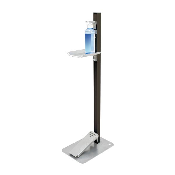 【感染対策】足踏式消毒液スタンド(ダークブロンズ) TTM-08-BKC