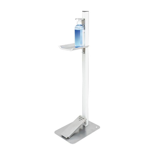 【感染対策】足踏式消毒液スタンド(ホワイト) TTM-08-W