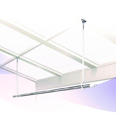 DRY・WAVE(ドライ・ウェーブ) 吊下型屋外物干金物(600mm~900mm・着脱可能) ホワイトカラー (2本で1組) TJW6090EX
