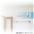 DRY・WAVE(ドライ・ウェーブ) ランドリーフック 壁面用タイプ(見付け) ホワイト (2本で1組) KF30<W>