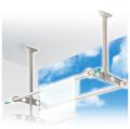 DRY・WAVE(ドライ・ウェーブ) 吊下げ型可動式物干金物(600mm〜900mm上下可動3段階) ステンカラー (2本で1組) TD6090<ST>