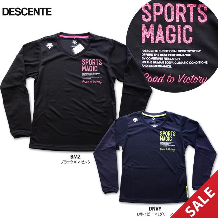 【SALE】【デサント】DVB-5755WL SPORTS MAGICプラシャツ【長袖】(レディス:Lサイズ)【即納】