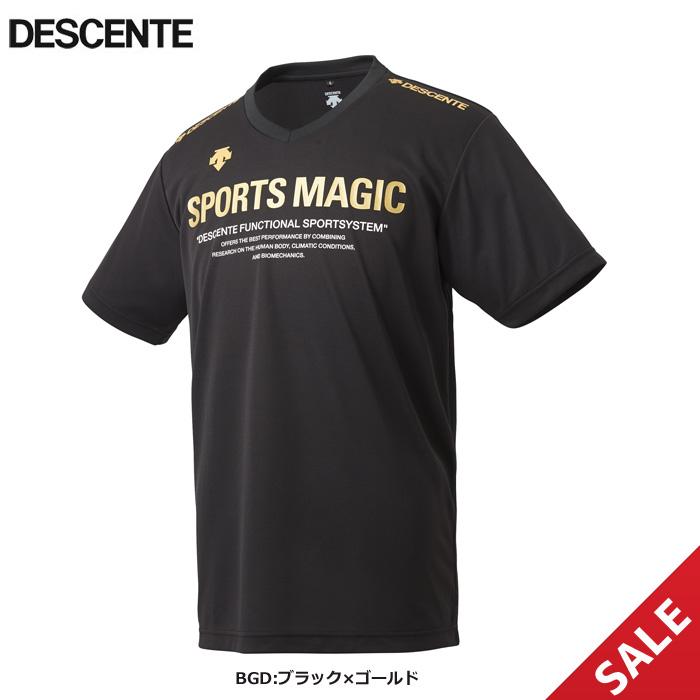 【SALE】【デサント】DVULJA55 SPORTS MAGICプラシャツ【半袖】(M、L)【★1着までクリックポストOK 送料220円】【★即納】