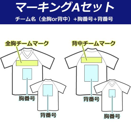 【マーキング:Aセット】チーム名(全胸or背中)+背番号+胸番号