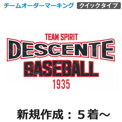 【デサント】チームオーダーマーキングセット【DSGR-E】