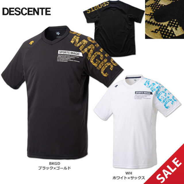 【19SS】【デサント】DVUNJA54 SPORTS MAGICプラシャツ【半袖】(M、L)【★即納】