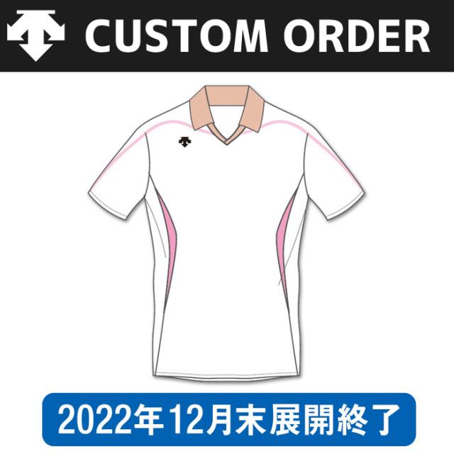 【デサント】OVL-4041【カスタムオーダー】ゲームシャツ【半袖タイプ/衿付】(SS~XC)
