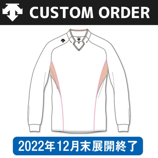 【デサント】OVL-4042【カスタムオーダー】ゲームシャツ【長袖タイプ/衿付】(SS~XC)