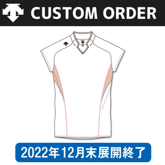 【デサント】OVL-4044【カスタムオーダー】ゲームシャツ【フレンチスリーブタイプ/衿付】(SS~XC)