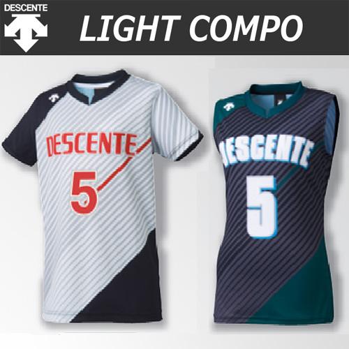 【デサント】【lightCompo】OVL-L4022/4022W/4022J/4032W 昇華プリントゲームシャツ(ユニセックス・メンズ:SS~XC/レディス:S~XA/ジュニア:130~150)/納期:約4週間~/最低作成枚数:新規5枚~追加1枚~
