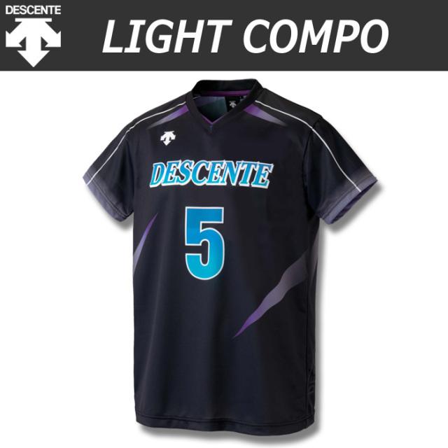 【デサント】【lightCompo】OVL-L4120A/4120AW 昇華プリントゲームシャツ(ユニセックス・メンズ:SS~XC/レディス:S~XA)/納期:約4週間~/最低作成枚数:新規5枚~追加1枚~