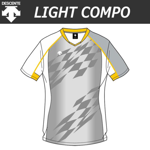 【デサント】【lightCompo】OVL-L4321/4321W 昇華プリントゲームシャツ(ユニセックス・メンズ:SS~XC/レディス:S~XA)/納期:約4週間~/最低作成枚数:新規5枚~追加1枚~
