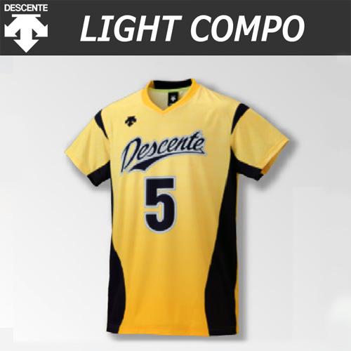 【デサント】【lightCompo】OVL-L4521/4521W 昇華プリントゲームシャツ(ユニセックス・メンズ:SS~XC/レディス:S~XA)/納期:約4週間~/最低作成枚数:新規5枚~追加1枚~