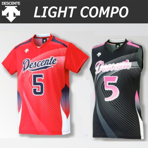 【デサント】【lightCompo】OVL-L4522/4522W/4532W 昇華プリントゲームシャツ(ユニセックス・メンズ:SS~XC/レディス:S~XA)/納期:約4週間~/最低作成枚数:新規5枚~追加1枚~