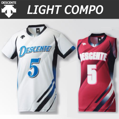 【デサント】【lightCompo】OVL-L4920/4920W/4930W 昇華プリントゲームシャツ(ユニセックス・メンズ:SS~XC/レディス:S~XA)/納期:約4週間~/最低作成枚数:新規5枚~追加1枚~