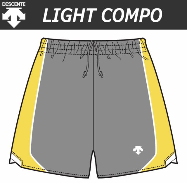 【デサント】【lightCompo】OVL-L6402/6402W 昇華プリントゲームパンツ(ユニセックス・メンズ:SS~XC/レディス:S~XA)/納期:約4週間~/最低作成枚数:新規5枚~追加1枚~