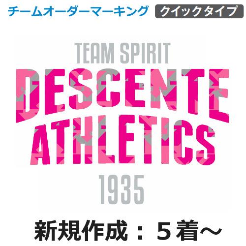 【デサント】チームオーダーマーキングセット【スピリットカモカレッジB】