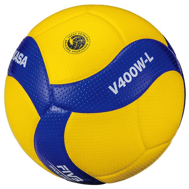 【19SS】【ミカサ】V400W-L バレーボール【軽量4号】【検定球】/4個以上ご注文の場合はお値段をお問い合わせください/6個以上ご注文で名入れ可