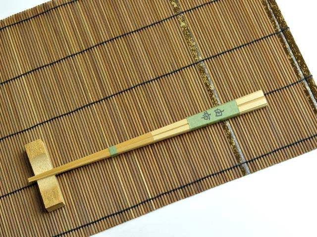 3点セット 竹箸と箸置きと竹マットセット