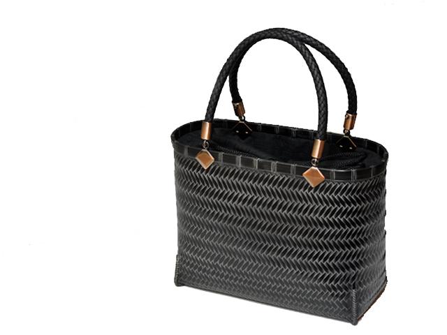伝統の技、網代編み竹バッグカート2a