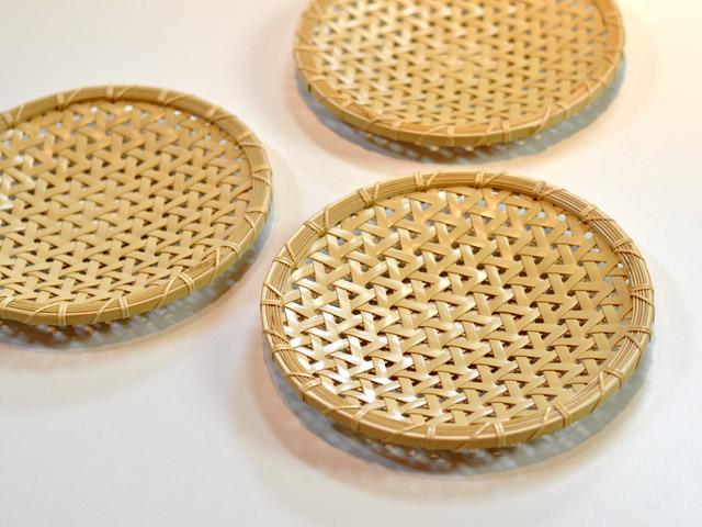 亀甲編み 平皿 竹 亀甲盛り皿