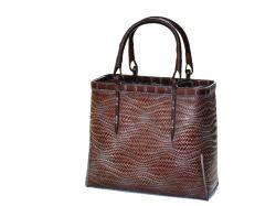 職人手作りの国産竹を使ったバッグ、波網代L角茶カート