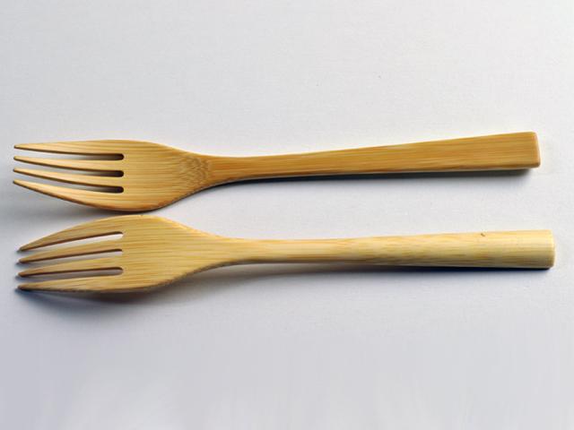甲斐のぶお工房のカトラリー、パスタフォーク、竹製品、職人手作りのフォーク