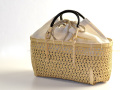 竹かごバッグ かごバッグ 麻の葉編み カート1