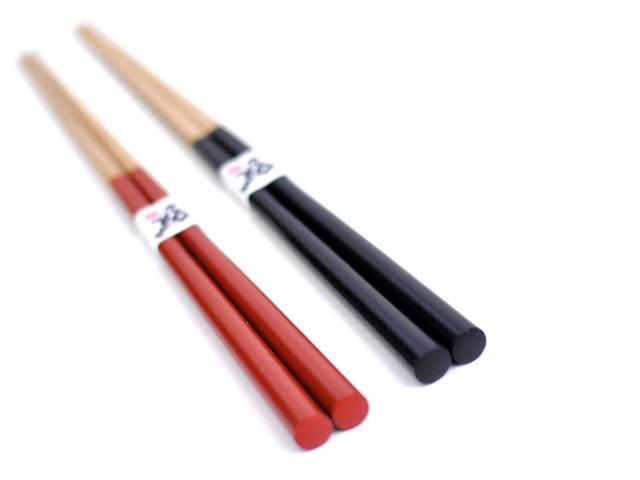 すべらない箸がんこ箸赤黒カートメイン