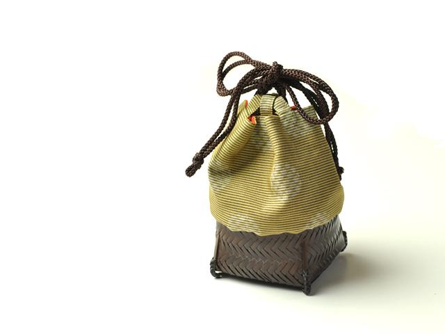 籠巾着 HAKO かご巾着HAKO「鈴音」 ぐい呑み入れ 和小物
