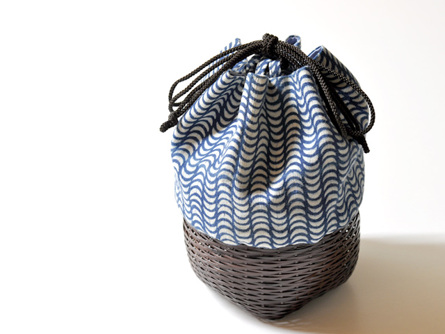 籠巾着「HAKO」たゆたふカート1