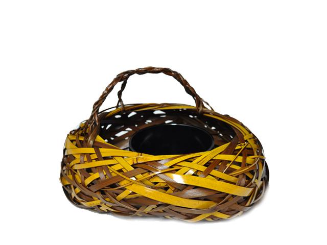 花籠 とまり舟 花器 インテリア 竹かご