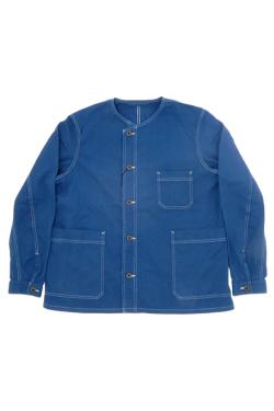 FRENCH WORK NO COLLAR SHIRT - COTTON TWILL / フレンチワークノーカラーシャツ - コットンツイル [2020春夏]