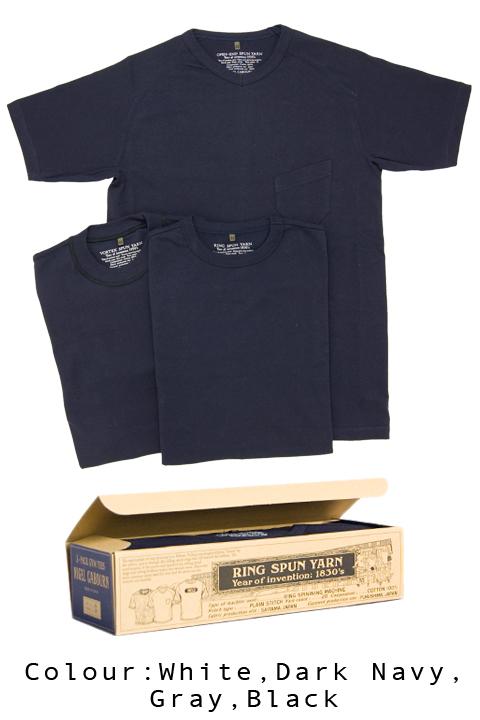 ナイジェルケーボン(NIGEL CABOURN)の3パックジムTシャツ