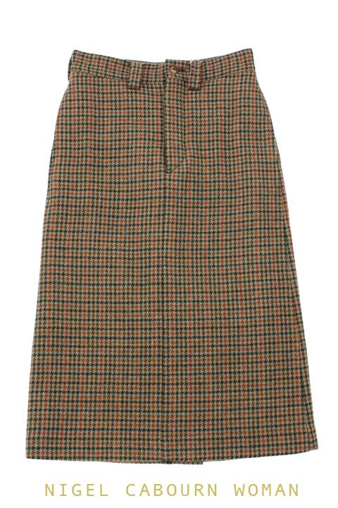 ナイジェルケーボンウーマン(NIGEL CABOURN WOMAN)のベーシックロングスカート - ツイード