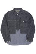ナイジェルケーボン(NIGEL CABOURN)のユーティリティミックスシャツ6oz - コットン/リネンデニム