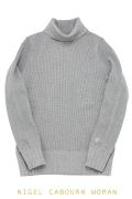 ナイジェルケーボンウーマン(NIGEL CABOURN WOMAN)のタートルネックシャツ - ビッグワッフル