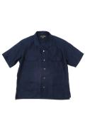 OPEN COLLARED SHIRT - LINEN TWILL / オープンカラーシャツ - リネンツイル [2021春夏]