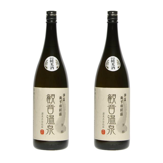 純米酒 観音温泉 芳醇1.8L 2本セット
