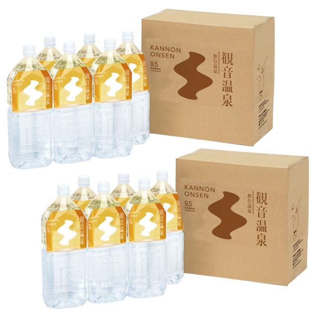 飲む温泉 観音温泉2Lペットボトル(6本入り)2ケースセット商品