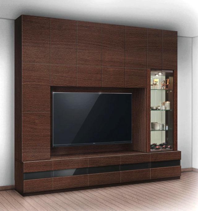 壁面収納 リネア(Linea) リエルマルシゲ 260cm幅  TV壁掛金具・上置付 10点セット 【送料無料】
