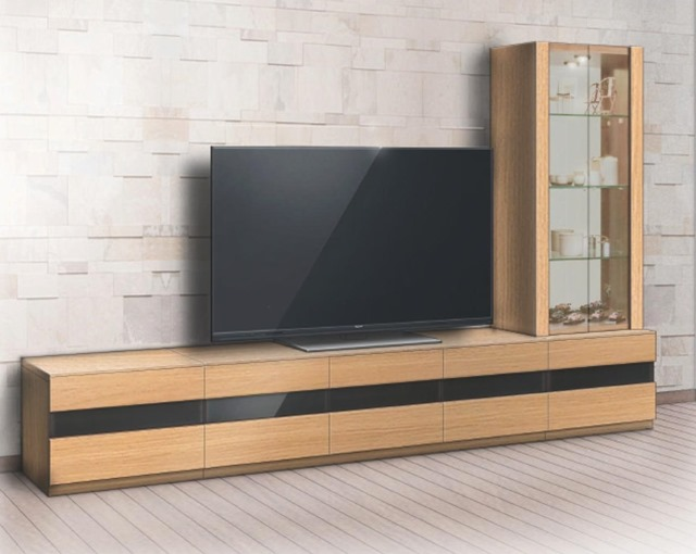 テレビボード リネア(Linea) リエルマルシゲ 270cm幅  4点セット 【送料無料】