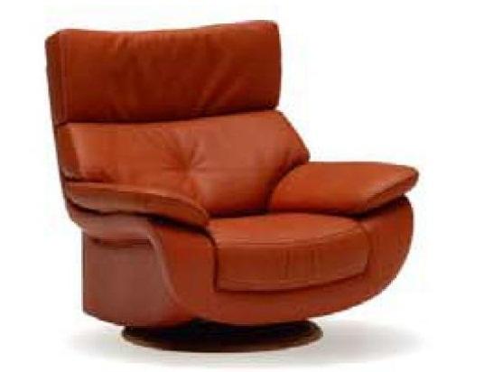カリモク(karimoku) 本革張(外側:合成皮革) 肘掛椅子(回転式)(1Pソファ)  ZT73 【送料無料】