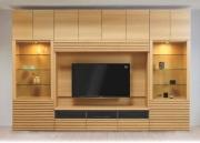 壁面収納 アコール(Accorr) リエルマルシゲ 340cm幅  TV壁掛金具・上置付 10点セット 【送料無料】