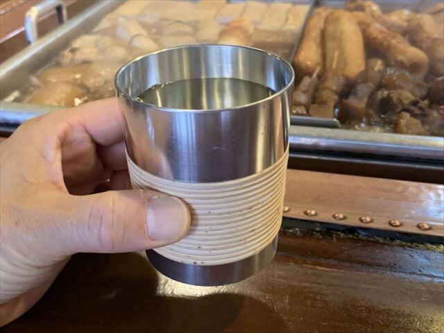 藤巻き錫の焼酎コップ