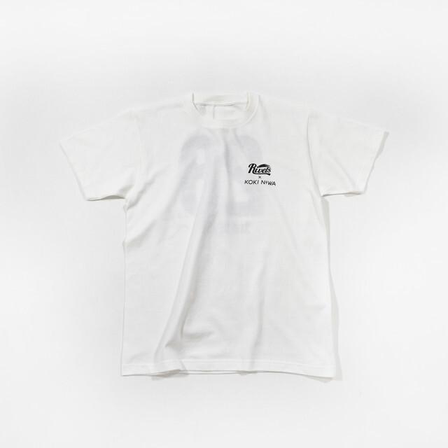 【丹羽孝希グッズ】KOKI NIWA×岡山リベッツコラボTシャツ(ホワイト)