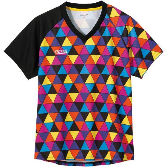 カラフル トライアングル レディースゲームシャツ【COLORFUL TRIANGLE LGS】