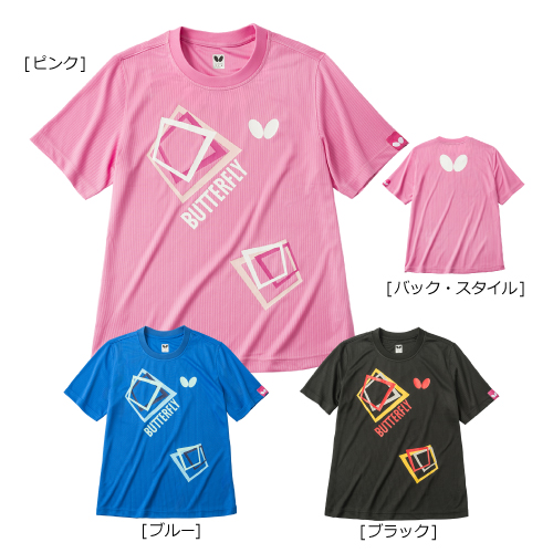 【即日発送】キュービックTシャツ (ブルー M・L・XO/ブラック XO)